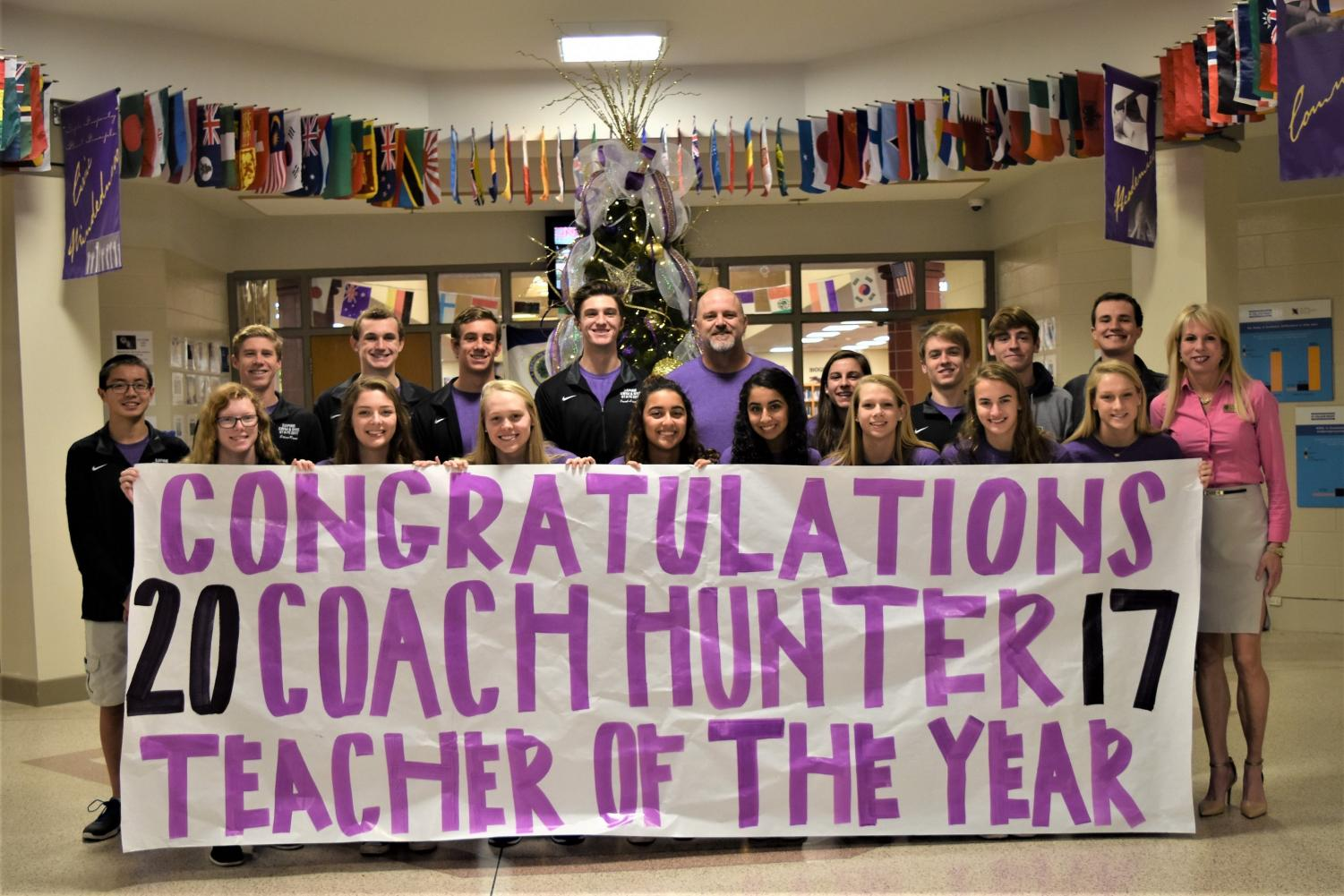 Bryan Hunter is DHS Teacher of the Year 2018. He teaches math and coaches swim & dive and golf.