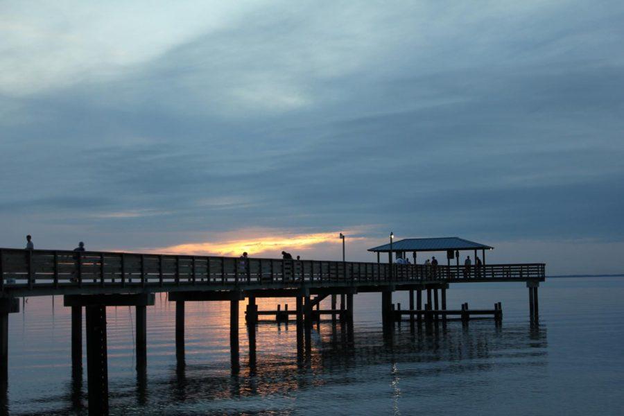 Mayday Pier at dusk.