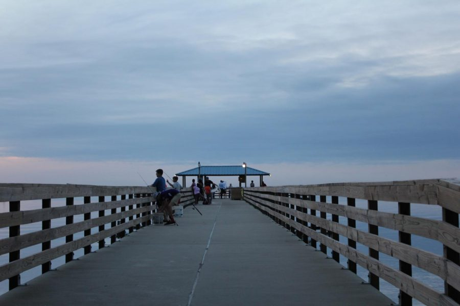 View of the Mayday pier at dusk