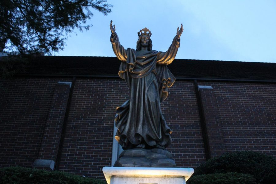Statue of Jesus Christ photographed at the Catholic church
