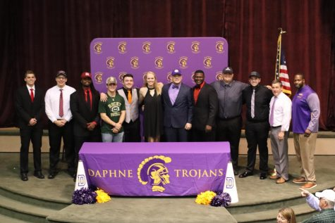 Ten Daphne High School Seniors commit to colleges on National Signing Day.