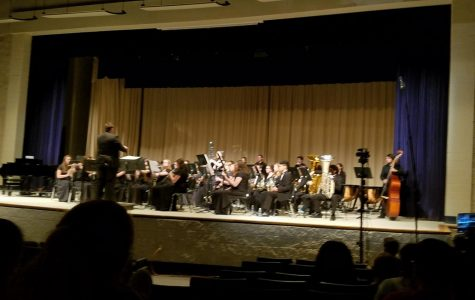 This is a picture of  the Daphne High School's  Symphonic Band Directed by Jamar Dumas