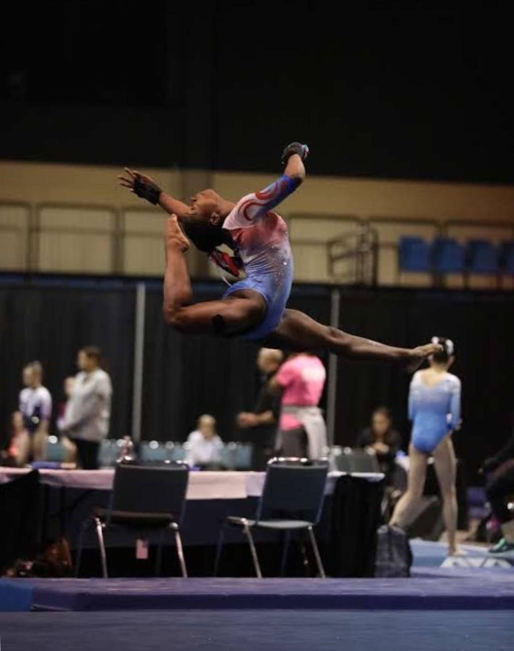 Gabriel Clark at Nationals doing her floor routine.