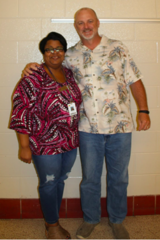 Ms. Tracie Brown and Coach Bryan Hunter