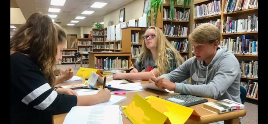 Pre-IB students participate in a writing camp over the summer.