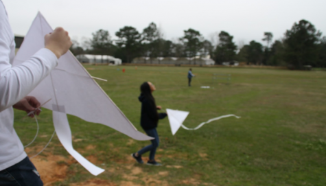 Students Fly Homemade Kites